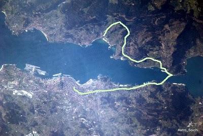 Foto de vigo desde el espacio, www.descubregalicia.com